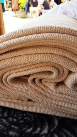 Beautiful textured cotton throw in 18 colours