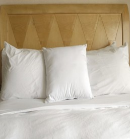 Cotton percale sheets, duvet covers, pillowcases